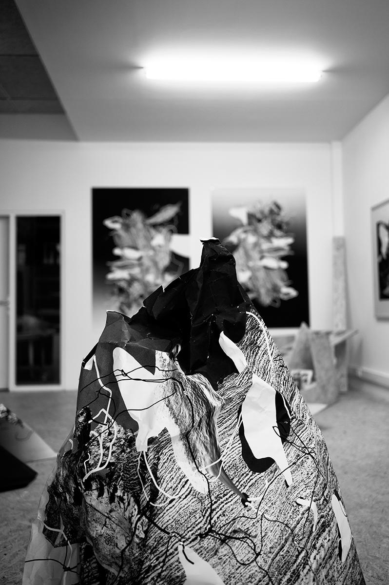 Virgile Laguin – Diary | 07.11.2014 | Exposition à La Forme | Cardboard, Catalog, Exhibition, Poster, Print, Silkscreen