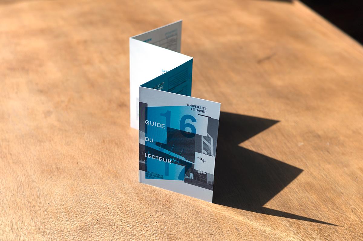 Virgile Laguin – Diary   02.09.2016   Guide du lecteur 2016/2017 BU Le Havre   Cardboard, Identity, Print