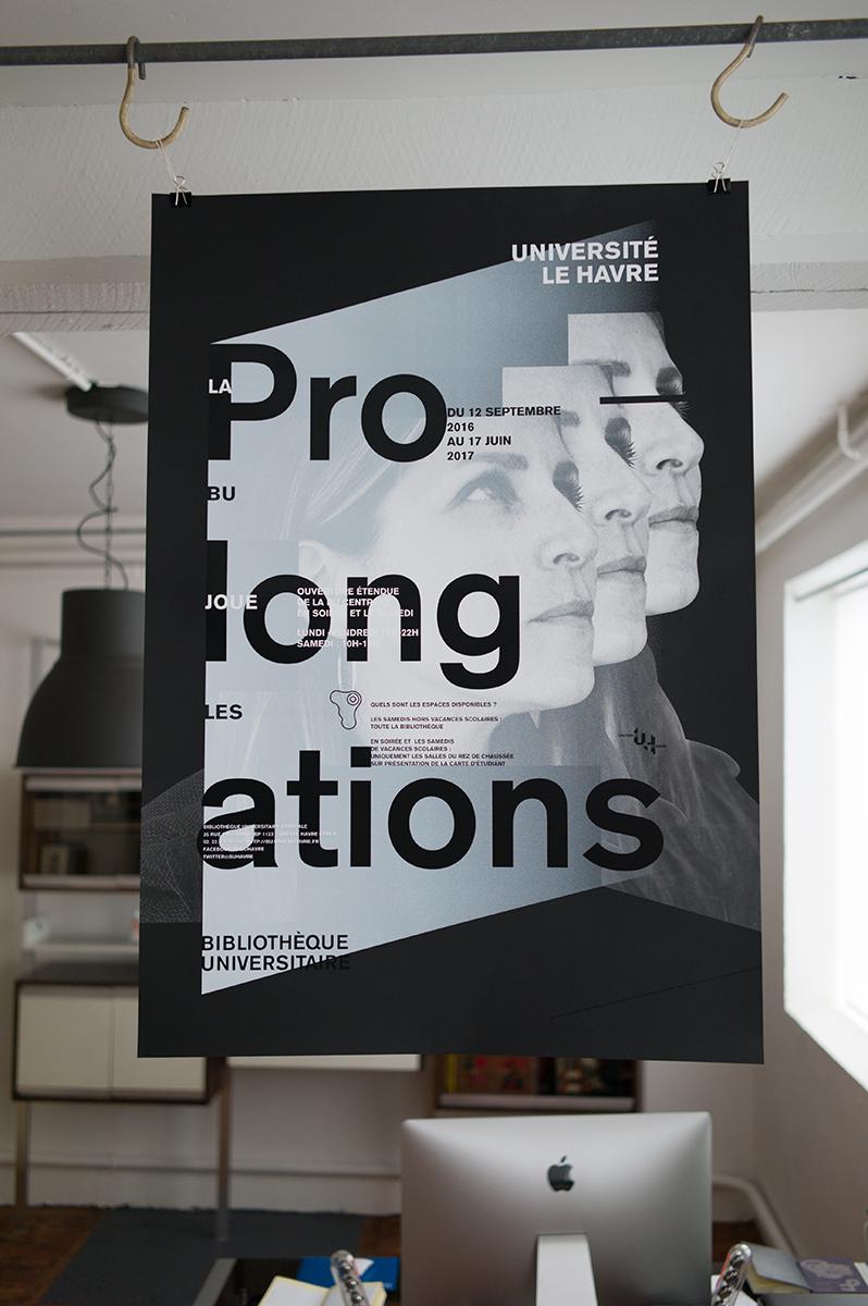Virgile Laguin – Diary   12.09.2016   La BU joue les prolongations 2016/2017   Identity, Poster, Print, Silkscreen