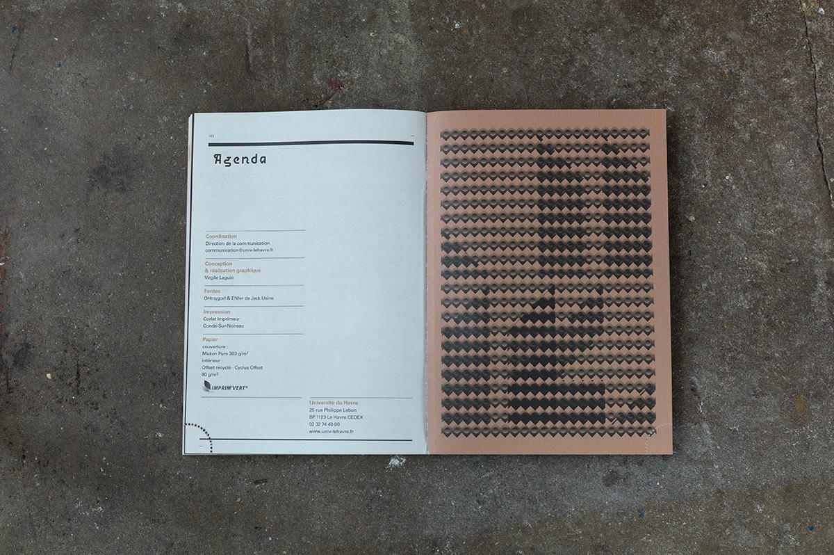 Virgile Laguin – Diary | 01.09.2011 | Agenda de l'étudiant 2011/2012 université Le Havre | Catalog, Identity, Print