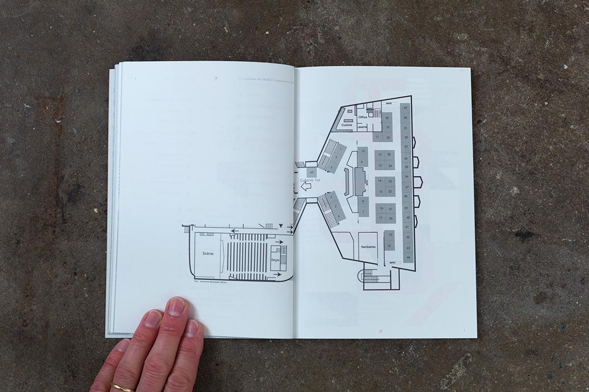 Virgile Laguin – Diary | 15.09.2011 | Congrès 2011 ADBU | Cardboard, Catalog, Identity, Poster, Print, Silkscreen