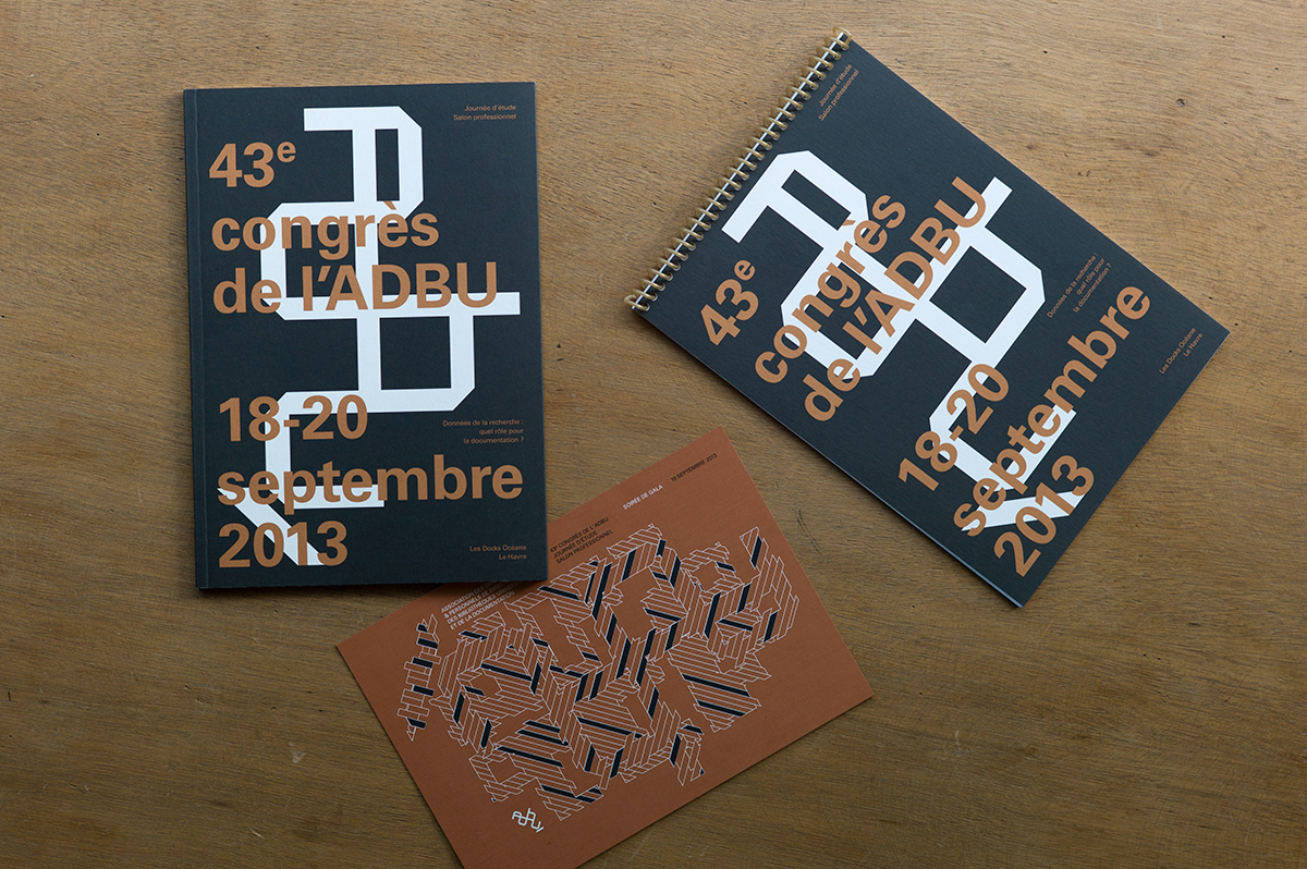 Virgile Laguin – Diary   18.09.2013   Congrès 2013 ADBU   Cardboard, Catalog, Identity, Poster, Print, Silkscreen