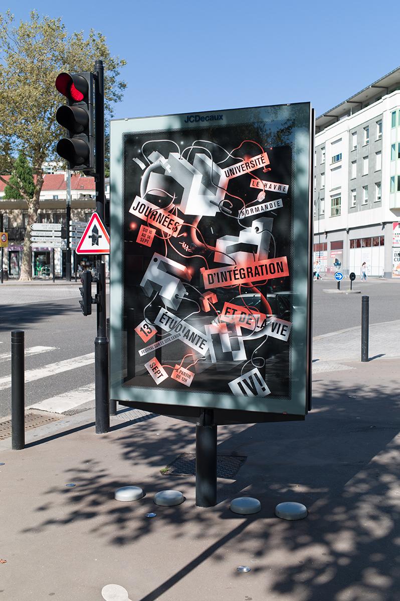 Virgile Laguin – Diary | 13.09.2018 | Journées d'intégration et de la vie étudiante 2018 Université Le Havre Normandie | Identity, Poster, Print, Silkscreen