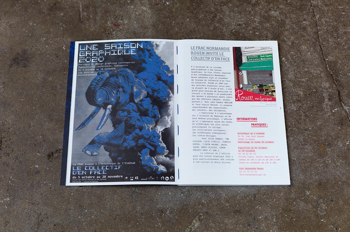 Virgile Laguin – Diary | 22.09.2020 | Catalogue Une Saison Graphique 2020 | Catalog, Identity, Print