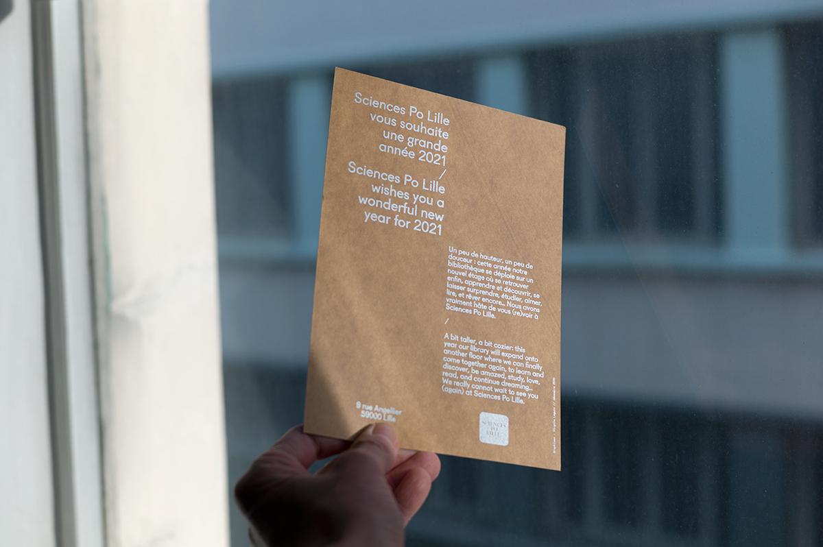 Virgile Laguin – Diary | 16.01.2021 | Carte de vœux 2021 SPL | Cardboard, Identity, Print