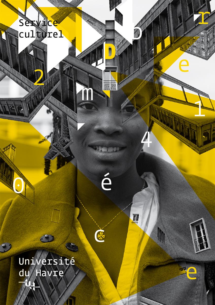 Virgile Laguin – Diary | 01.12.2014 | Carton décembre 2014 programmation culturelle université Le Havre | Cardboard, Identity, Print