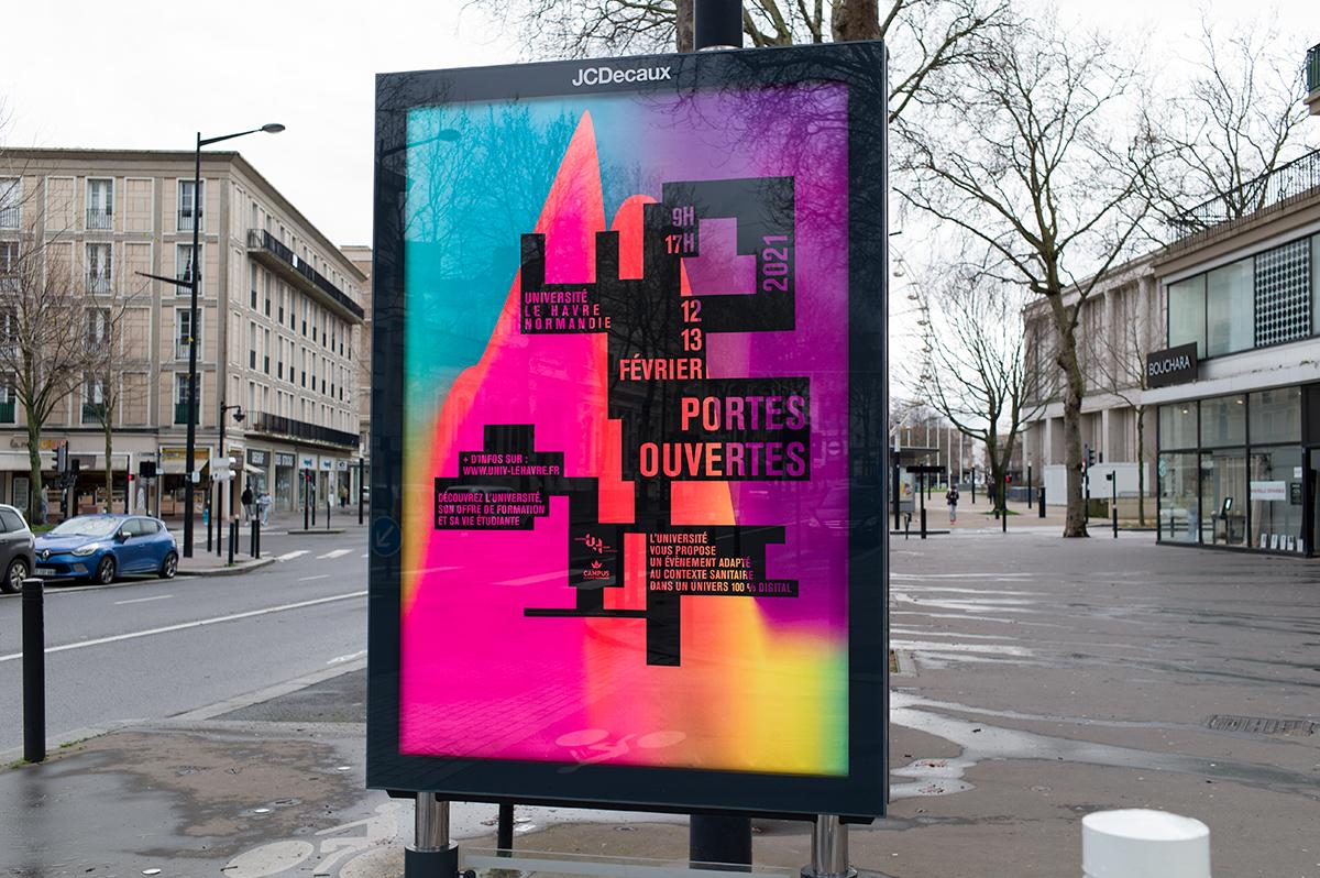 Virgile Laguin – Diary | 03.02.2021 | Portes ouvertes 2021 Université Le Havre Normandie | Identity, Poster, Print, Silkscreen
