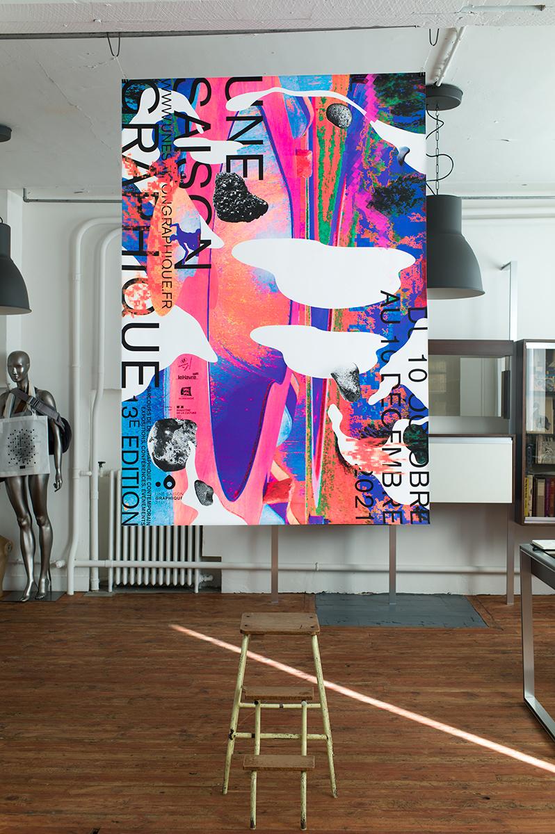 Virgile Laguin – Diary | 28.09.2021 | Affiche Une Saison Graphique 2021 | Identity, Poster, Print, Silkscreen