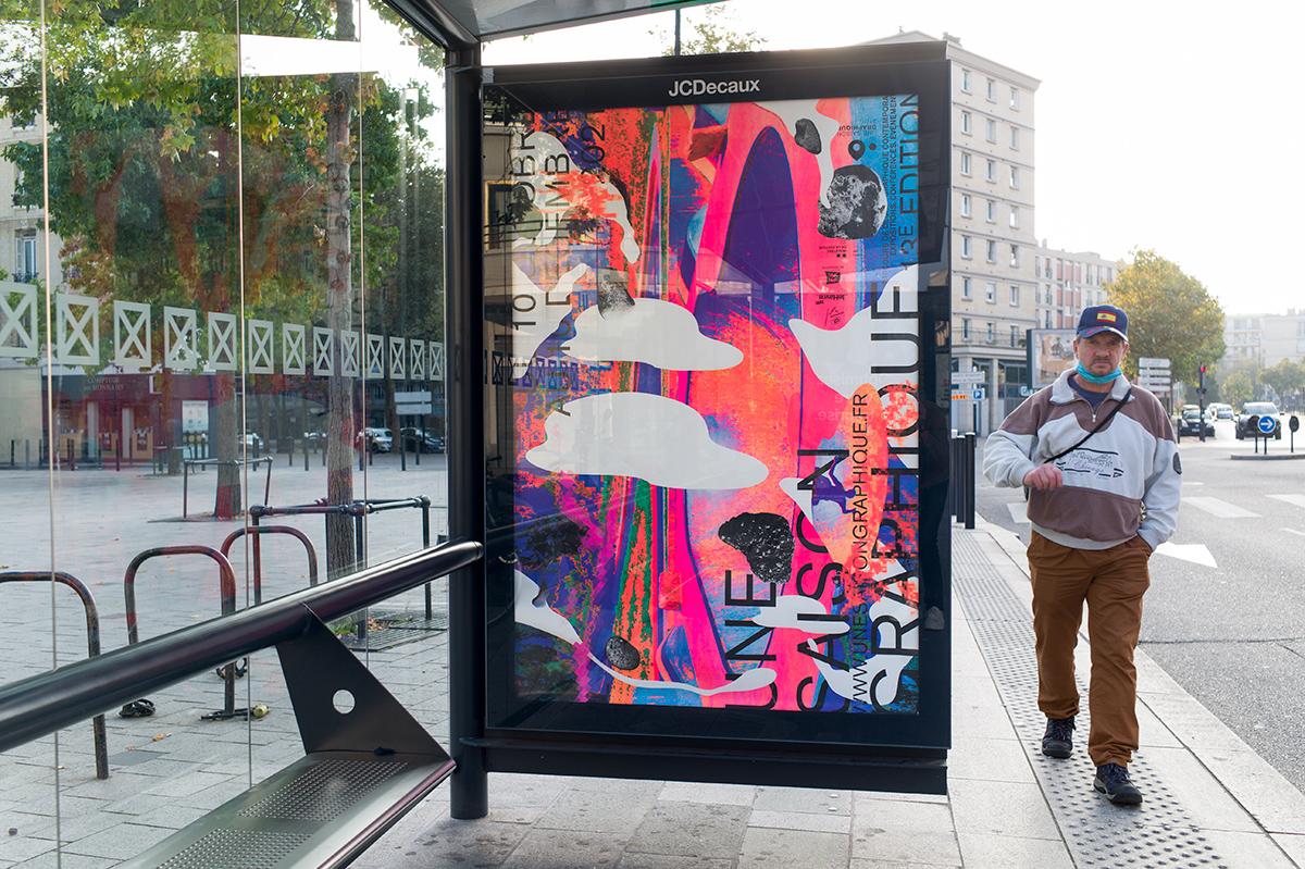 Virgile Laguin – Diary | 12.10.2021 | Affiche Une Saison Graphique 2021 | Identity, Poster, Print, Silkscreen